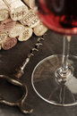 Corks and red wine Royalty Free Stock Photos