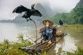 Cormorant Fisherman Royalty Free Stock Photo