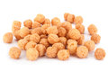 Corn balls snack on white Royalty Free Stock Photo