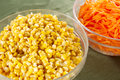 Corn and carrot Royalty Free Stock Photo