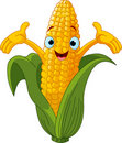 Corn Character Presenting Something Royalty Free Stock Photo
