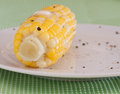 Corn on the Cob with Butter and Seasonings Royalty Free Stock Photo