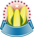 Corn Ear Emblem Stock Photos