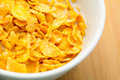 Corn flake close up Royalty Free Stock Photo