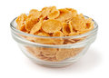Corn flakes in a bowl Royalty Free Stock Photo