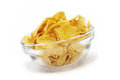 Corn flakes cornflakes in bowl isolated close up Royalty Free Stock Photography