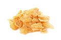 Corn flakes, cornflakes isolated on white background Royalty Free Stock Photo