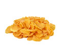 Corn flakes, cornflakes isolated white background Royalty Free Stock Photo