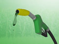 Corn gas pump a ump with wrapped around the nozzle to symbolize ethanol Stock Photos