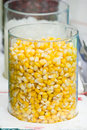 Corn glass jar filled with Royalty Free Stock Photography