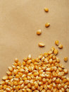 Corn kernels arranged as the background for health Stock Photos