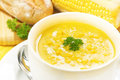 Corn and Parsley Soup Royalty Free Stock Photo