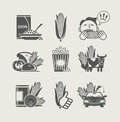 Corn and products set icon Royalty Free Stock Photography