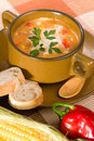 Corn and red chilli chowder Stock Images