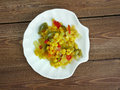 Corn relish homemade canned pickled Royalty Free Stock Photography