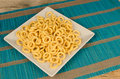 Corn rings golden fried a salted snack Stock Images