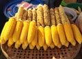 Corn streamed golden Stock Photo