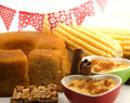 Corn treats brazilian traditional food for junina feast Stock Images