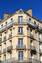 Corner apartment Paris Royalty Free Stock Photo