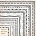 Corner border frame line pattern brushes 1 vector