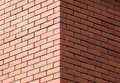 Corner of decorative brick wall Royalty Free Stock Photos