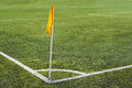 Corner flag on the football field Royalty Free Stock Photo