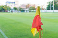 Corner flag on soccer field Royalty Free Stock Photo
