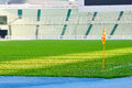 Corner flag on a soccer field image of Royalty Free Stock Images