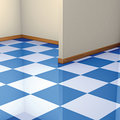 Corner and floor tiles Stock Photos