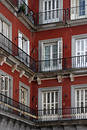 Corner house in madrid Royalty Free Stock Photo