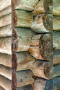 Corner joint house from logs Royalty Free Stock Photography