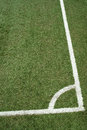 Corner kick area the lines on soccer field Royalty Free Stock Photo