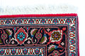 Corner of a persian rug the edge is shown in close up Royalty Free Stock Photography
