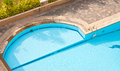 Corner of the pool in resort area Royalty Free Stock Photos