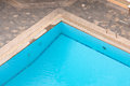 Corner of the pool in resort area Royalty Free Stock Photography