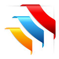 Corner ribbons set Royalty Free Stock Photo
