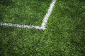 Corner soccer field selective focus nearest part Royalty Free Stock Photos
