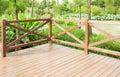 wooden deck wood patio outdoor garden terrace balcony Royalty Free Stock Photo
