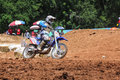 Cornering Motocross Motorcycle Royalty Free Stock Image
