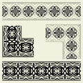 Corners and borders border corner on a light background two options decorative elements Royalty Free Stock Photography