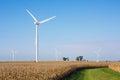 Cornfield With Wind Turbines