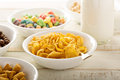 Cornflake cereals in a bowl Royalty Free Stock Photo
