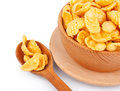 Cornflakes in bowl and spoon Royalty Free Stock Photo