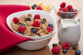 Cornflakes with fresh berries Stock Image
