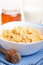 Cornflakes with honey Stock Image