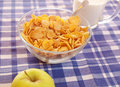 Cornflakes and milk Royalty Free Stock Image