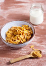 Cornflakes with milk Royalty Free Stock Photo