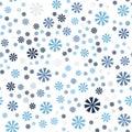 Cornflower pattern. Seamless vector