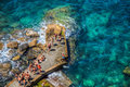 Corniglia, Cinque Terre, Italy - People Royalty Free Stock Photo