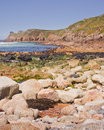 Cornish coast the rocky shoreline of the england Stock Photo